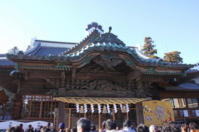 初詣の神社