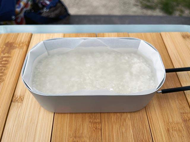 お米にしっかりと水分を含ませる