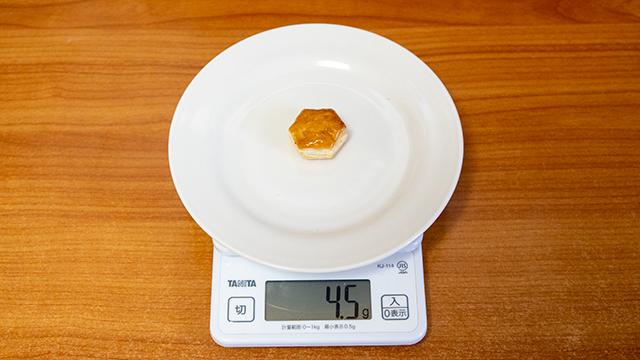 パイの実1個の重さ